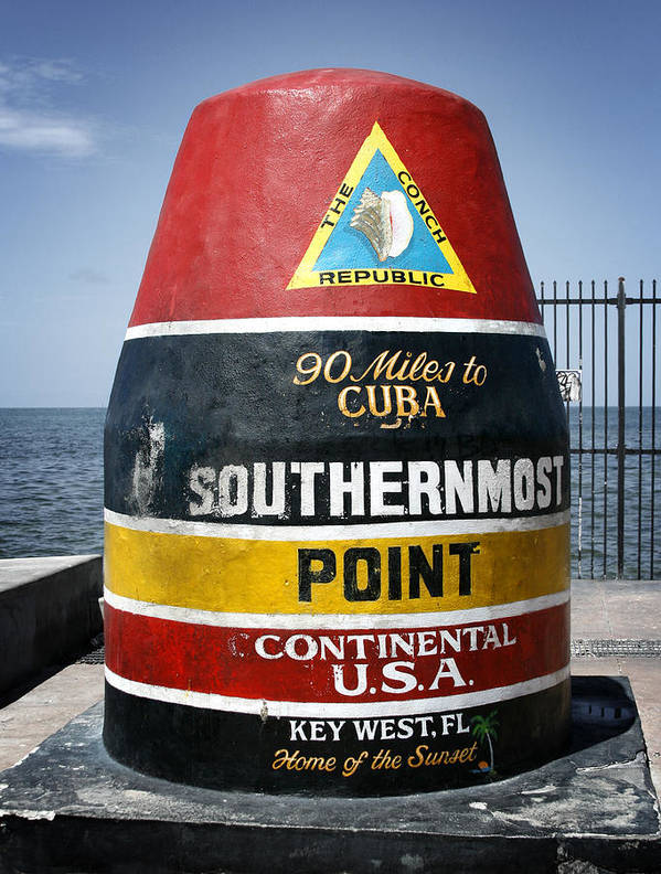 Key West Poster featuring the photograph 90 Miles by Shane Rees