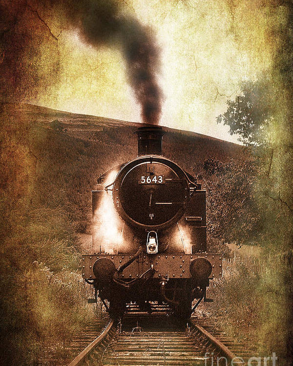 Train Poster featuring the photograph A Bygone Era by Meirion Matthias