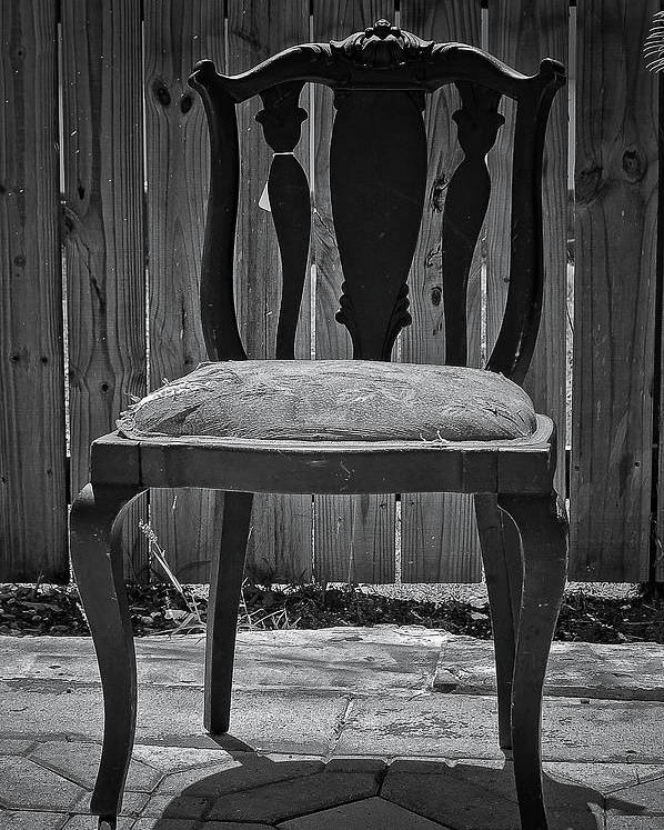 Chair Poster featuring the photograph A Chair In Despair by DigiArt Diaries by Vicky B Fuller