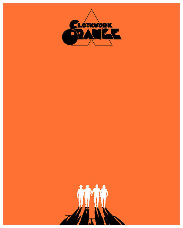 A Clockwork Orange Poster by Finlay McNevin A Clockwork Orange Minimalist Poster