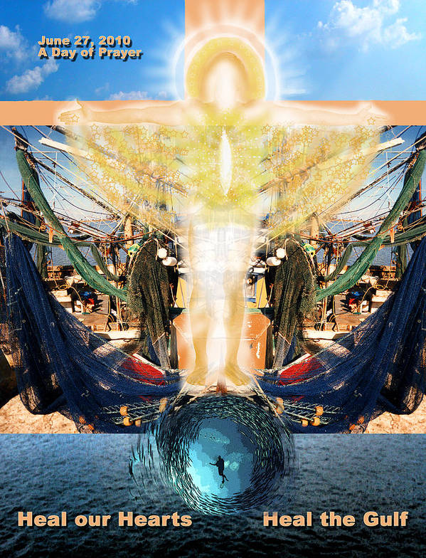Gulf Poster featuring the photograph A Day Of Prayer For The Gulf by Anne Cameron Cutri