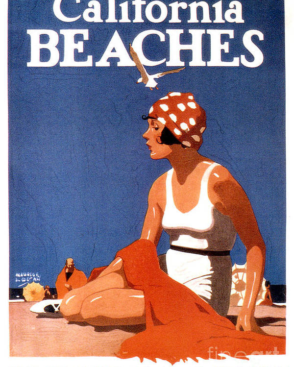 California Poster featuring the photograph California Beaches by Jon Neidert
