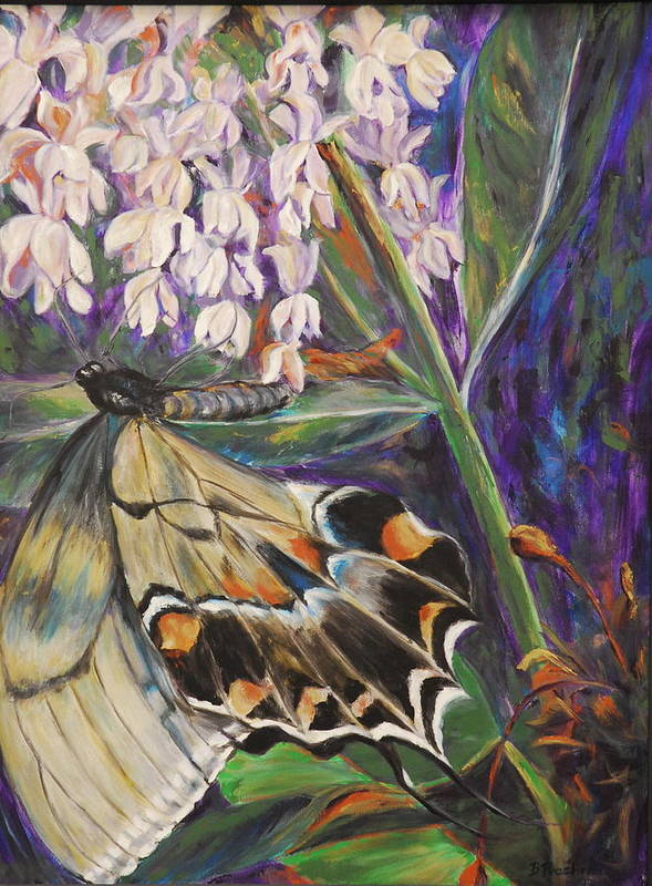 Butterfly Poster featuring the painting A Different View by Bonnie Peacher