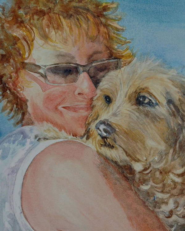 Dogs Poster featuring the painting A Girl's Best Friend by Diane Fujimoto