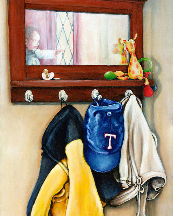 Toys Poster featuring the digital art A Grandsons Prized Possessions Texas by Leo Malboeuf