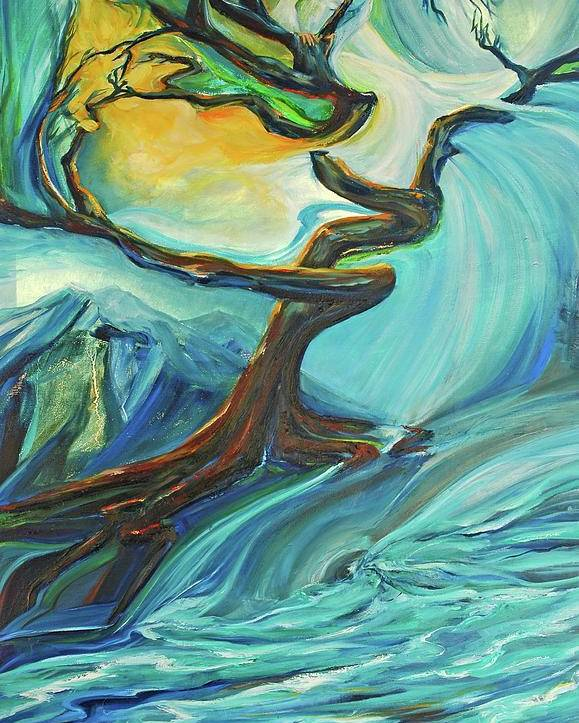 Landscape Poster featuring the painting A Healing Earth by Jennifer Christenson