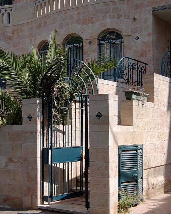 Israel Poster featuring the photograph A Home In Rehavia 3 by Susan Heller