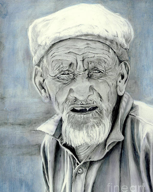 Figurative Art Poster featuring the painting A Life Time by Enzie Shahmiri