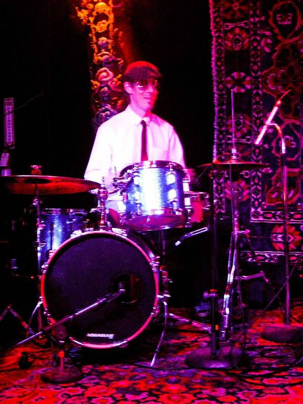 Music Drums Bright White Pink Background Shirt Tie Poster featuring the photograph A Man And His Drums by Barbara Kelley