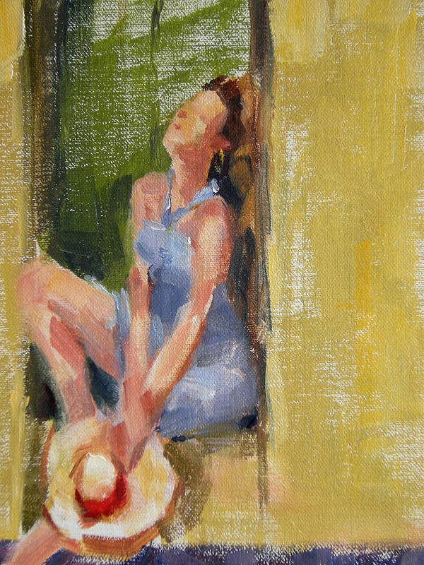 Figurative Poster featuring the painting A Moment In The Sun by Merle Keller