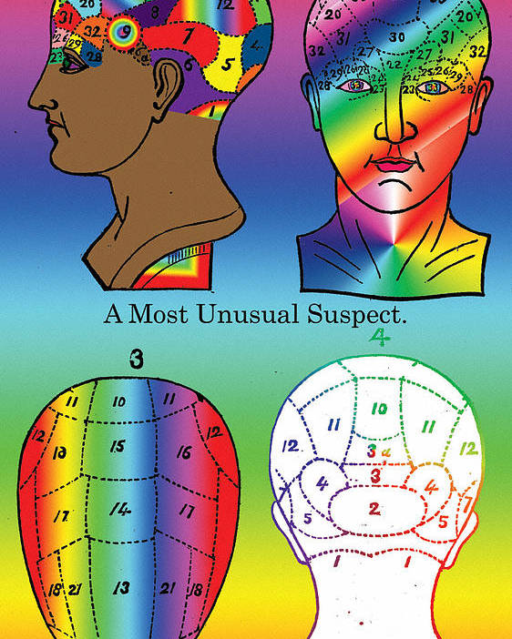 Head Poster featuring the digital art A Most Unusual Suspect by Eric Edelman