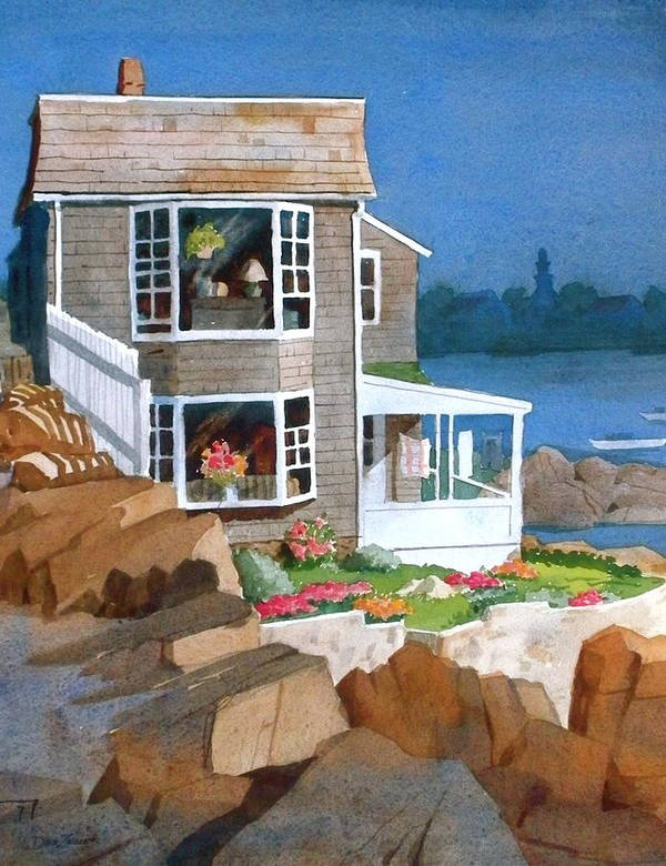 Waterfront Poster featuring the painting A Summer Place by Faye Ziegler