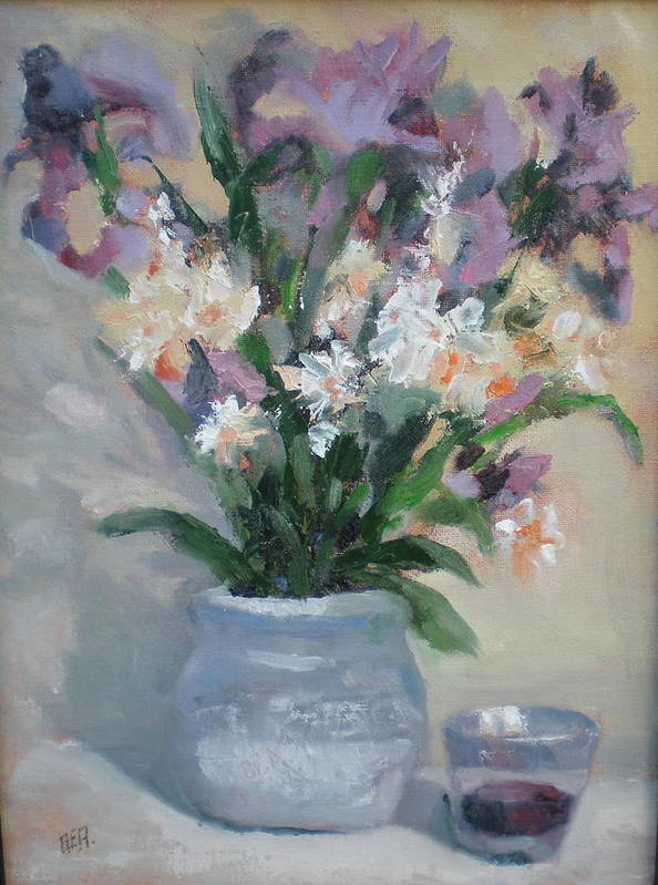 Still Life. Awarded Blue Ribbon At July 2007 Poster featuring the painting A Toast To Rose by Bryan Alexander