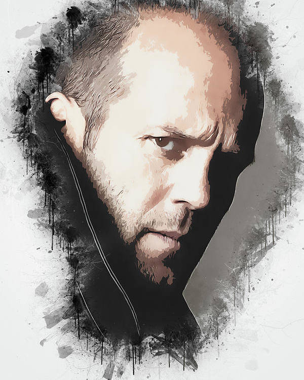 Movies Poster featuring the digital art A Tribute to JASON STATHAM by Dusan Naumovski