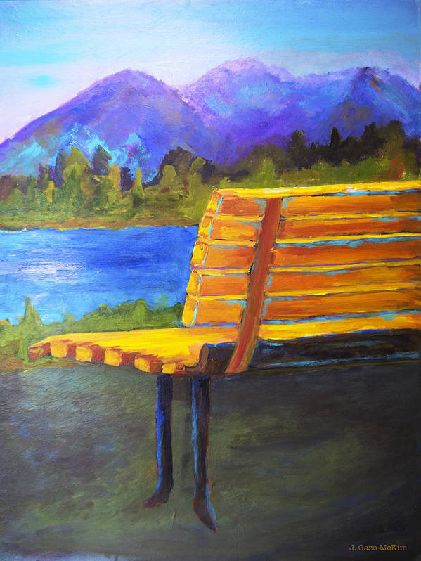 Landscape Poster featuring the painting A View For Two by Jo-Anne Gazo-McKim