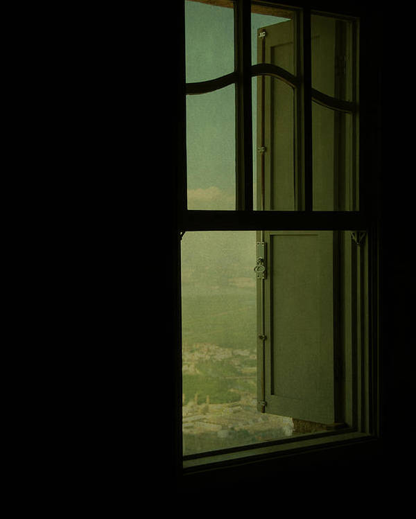 Illustration Poster featuring the photograph A Window Out To The Sea by Valmir Ribeiro