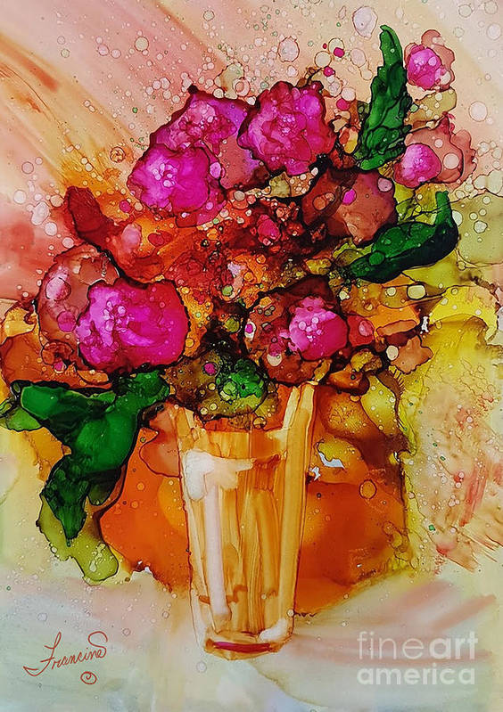 Bright Poster featuring the mixed media Aaaah Spring by Francine Dufour Jones