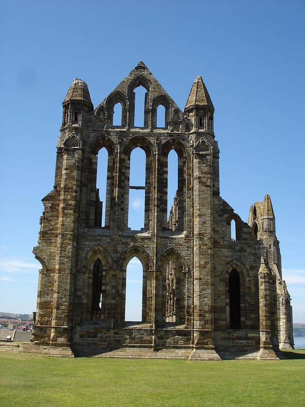 Abby Poster featuring the photograph Abbey At Whitby by Susan Baker