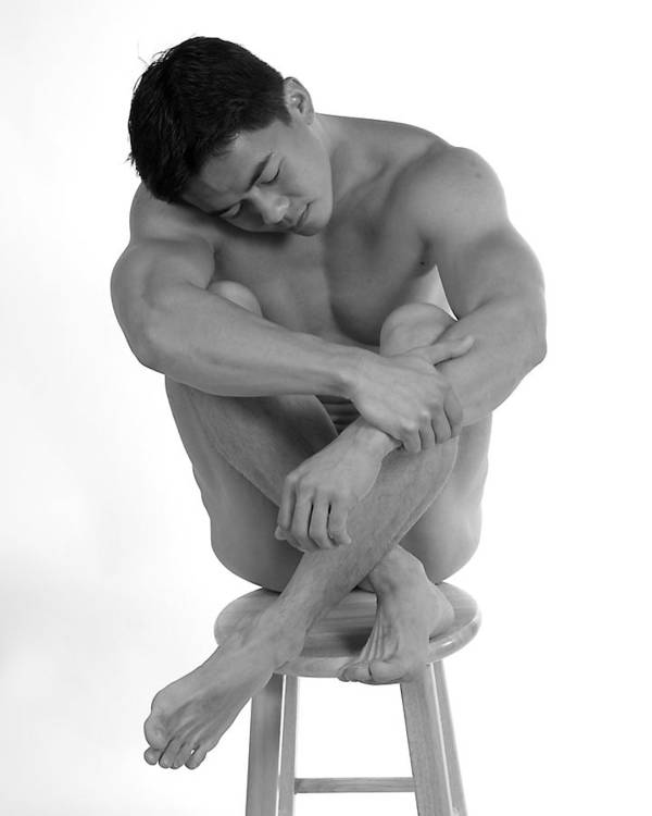Male Nude Figure Study Poster featuring the photograph Abel by Dan Nelson