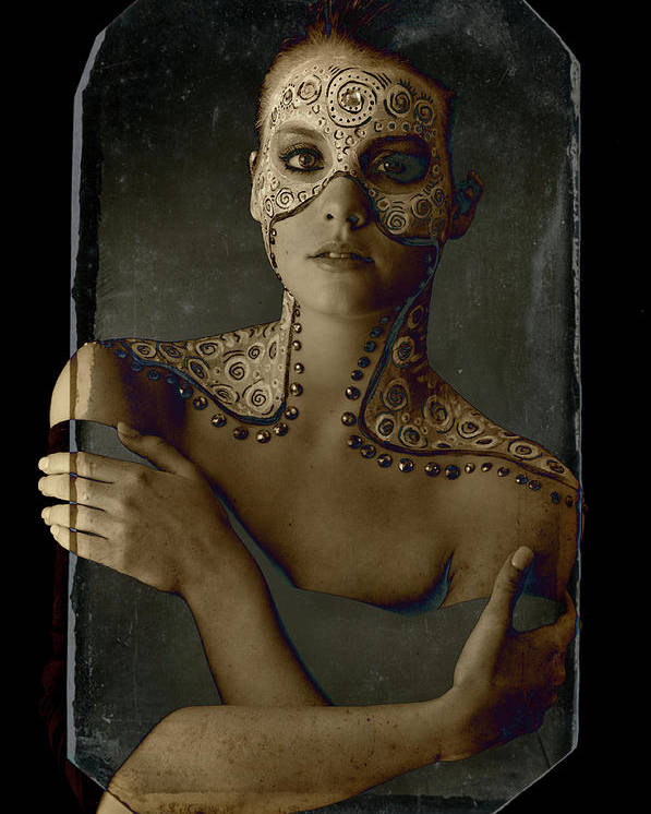 Poster featuring the photograph Aboriginal Vogue by Melissa Wyatt