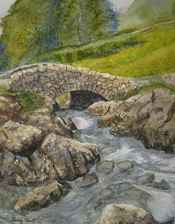 Landscape Poster featuring the painting Above Ashness Bridge by Shirley Braithwaite Hunt