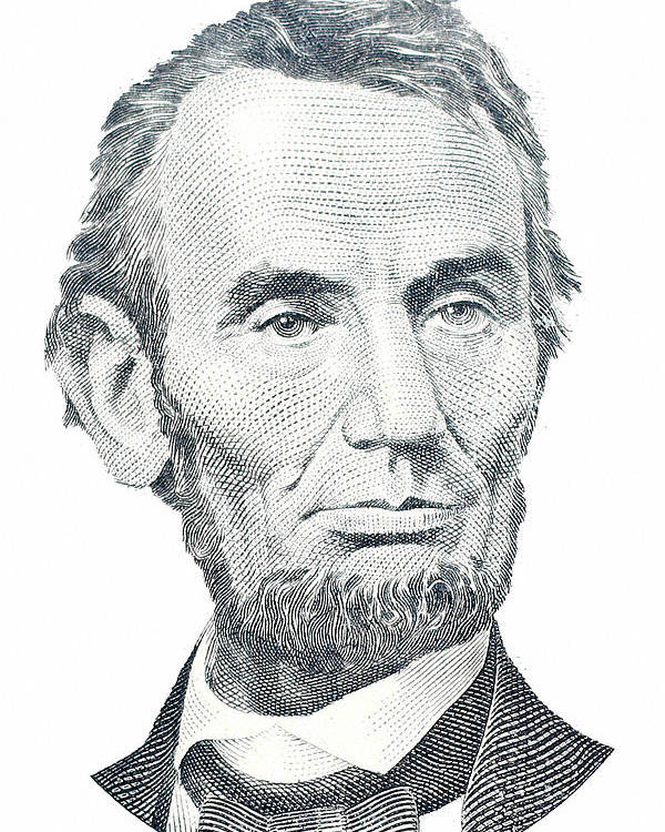 Abraham Lincoln Poster featuring the photograph Abraham Lincoln by David Houston