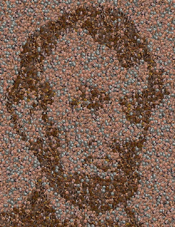 Abe Poster featuring the mixed media Abraham Lincoln Penny Mosaic by Paul Van Scott