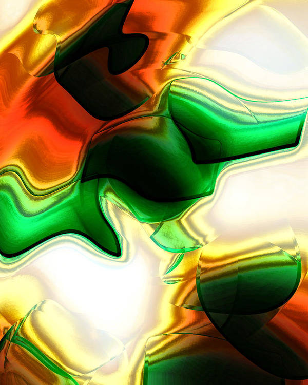 Abstract Poster featuring the digital art Abstract - Fusion by Patricia Motley