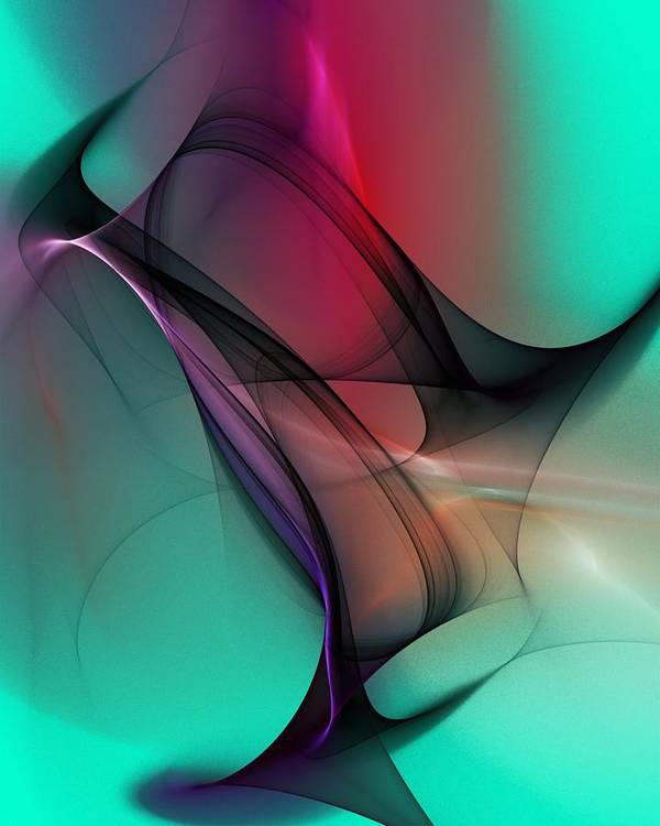 Abstract Poster featuring the digital art Abstract 070310 by David Lane