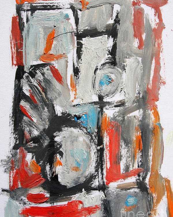 Abstract Poster featuring the painting Abstract 6831 by Michael Henderson