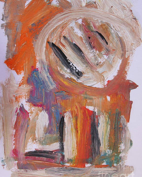 Abstract Poster featuring the painting Abstract 6833 by Michael Henderson