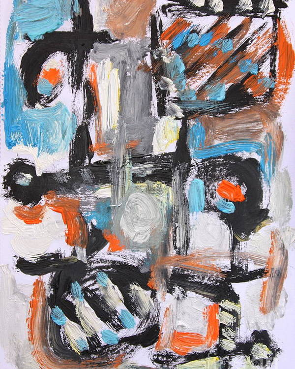 Poster featuring the painting Abstract 6834 by Michael Henderson