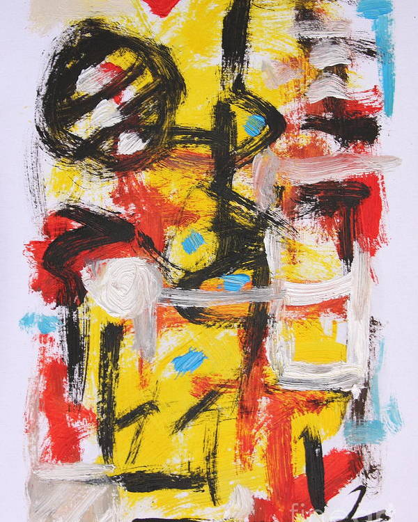 Abstract Poster featuring the painting Abstract 6835 by Michael Henderson