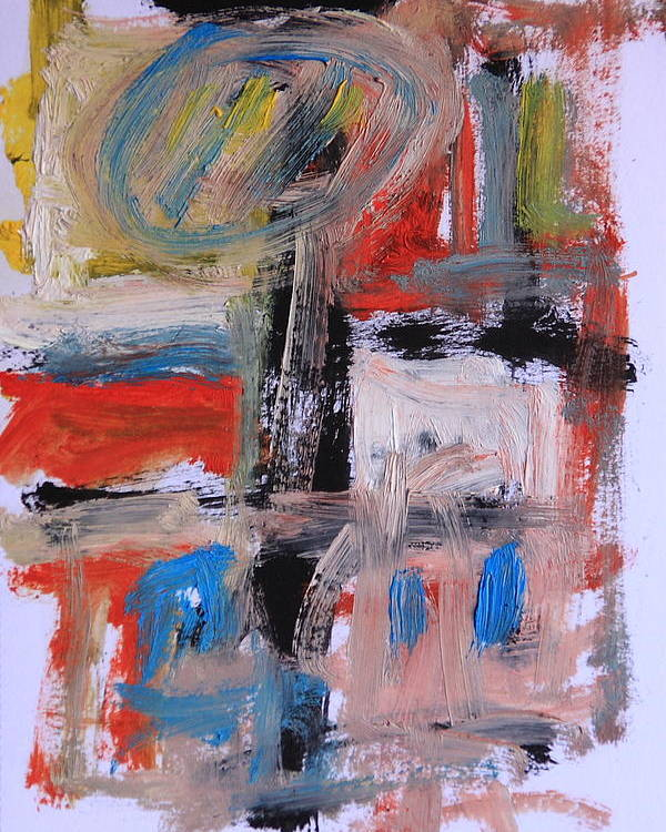 Abstract Poster featuring the painting Abstract 7202 by Michael Henderson