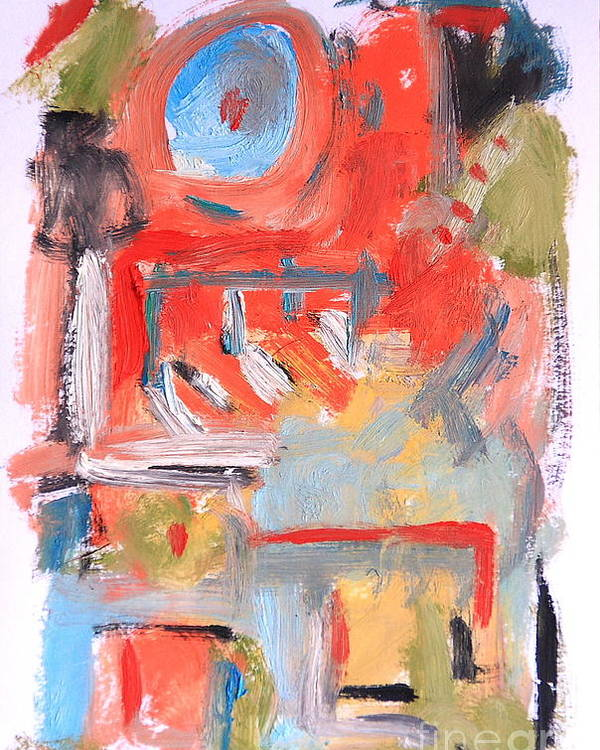 Abstract Poster featuring the painting Abstract 7204 by Michael Henderson