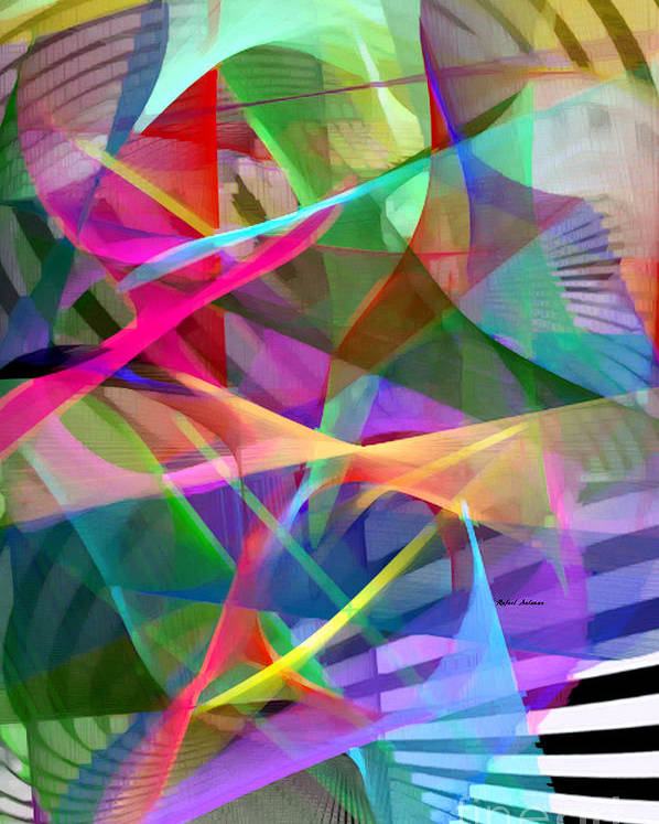 Rafael Salazar Poster featuring the digital art Abstract 9488 by Rafael Salazar