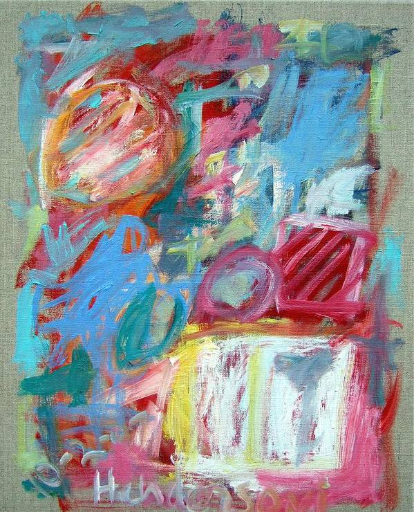 Abstract Poster featuring the painting Abstract Composition 2 by Michael Henderson