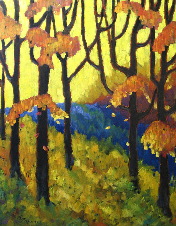 Art Poster featuring the painting Abstract Forest by Richard T Pranke