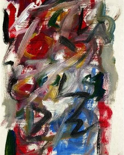 Abstract Art Poster featuring the painting Abstract On Paper No. 25 by Michael Henderson
