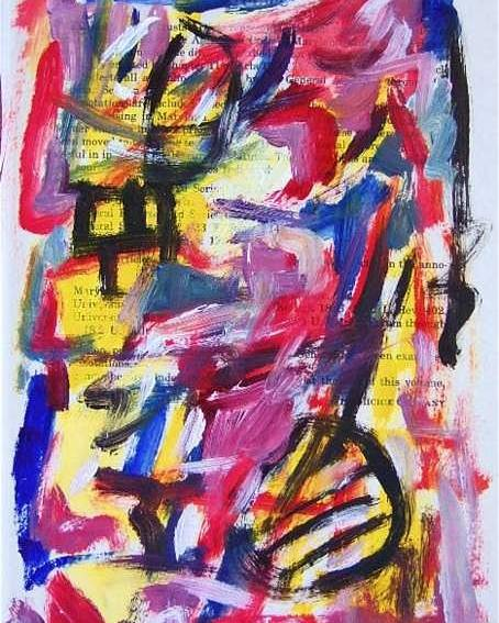 Abstract Art Poster featuring the painting Abstract On Paper No. 28 by Michael Henderson