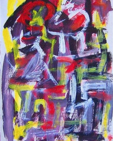 Abstract Art Poster featuring the painting Abstract On Paper No. 29 by Michael Henderson