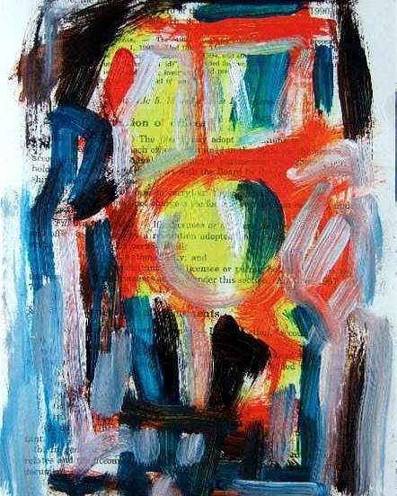Abstract Art Poster featuring the painting Abstract On Paper No. 34 by Michael Henderson