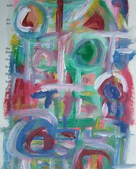 Abstract Poster featuring the painting Abstract On Paper No. 38 by Michael Henderson