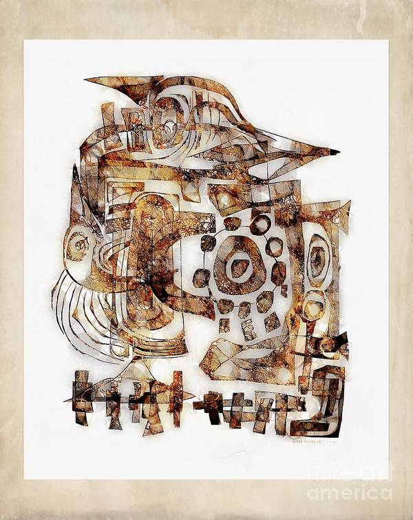 Abstraction Poster featuring the digital art Abstraction 3055 by Marek Lutek