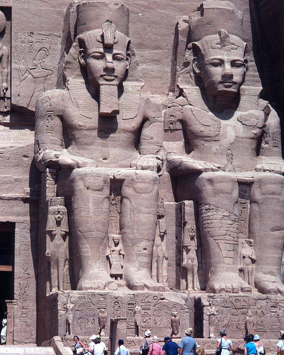 Monument Poster featuring the photograph Abu Simbel In Egypt by Carl Purcell