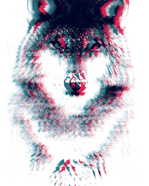 3d Poster featuring the tapestry - textile Act Like A Wolf by Mason Denaro