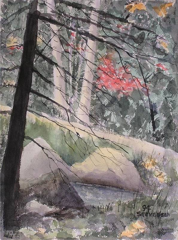 Forest Glen Poster featuring the painting Adirondacks by Joseph Stevenson