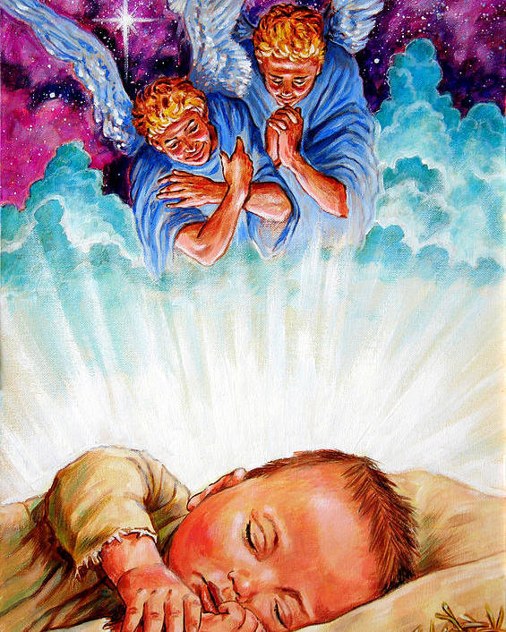 Baby Jesus Poster featuring the painting Adore Your Saviour by John Lautermilch