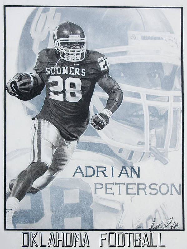Sports Poster featuring the photograph Adrian Peterson by Raymond Potts