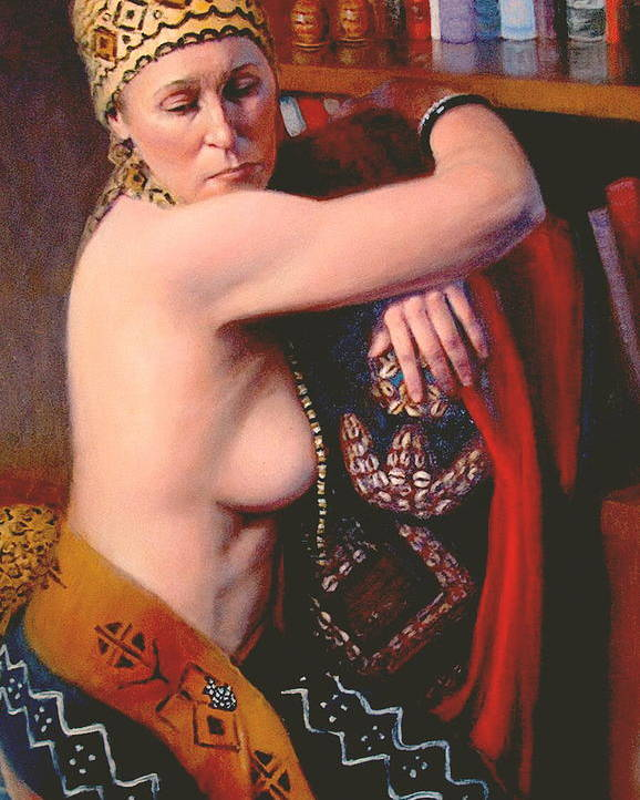 Realism Poster featuring the painting African Drum 3 by Donelli DiMaria